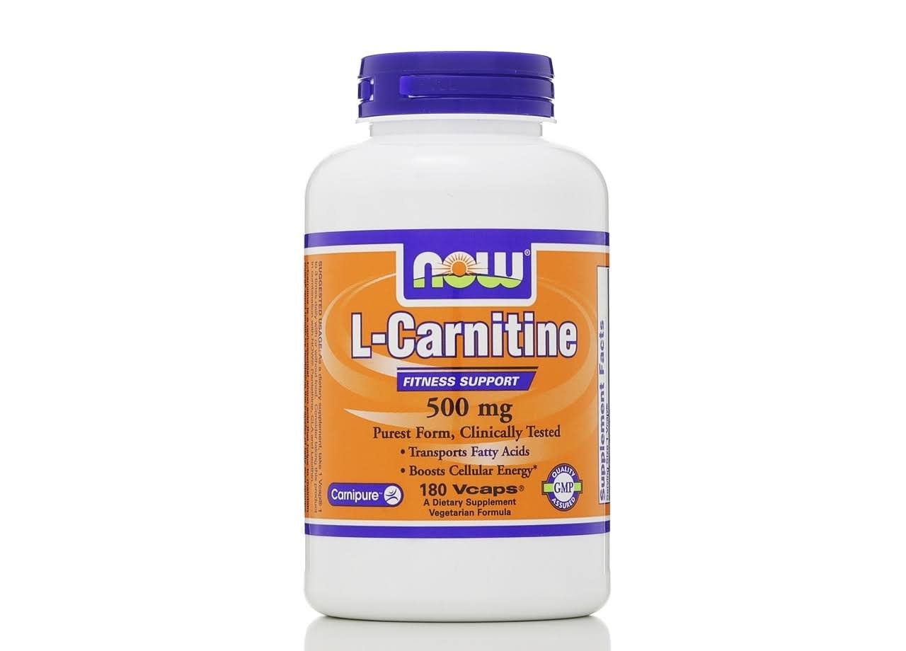 Now L-carnitine Fitness Support 500 Mg - 180 Capsules