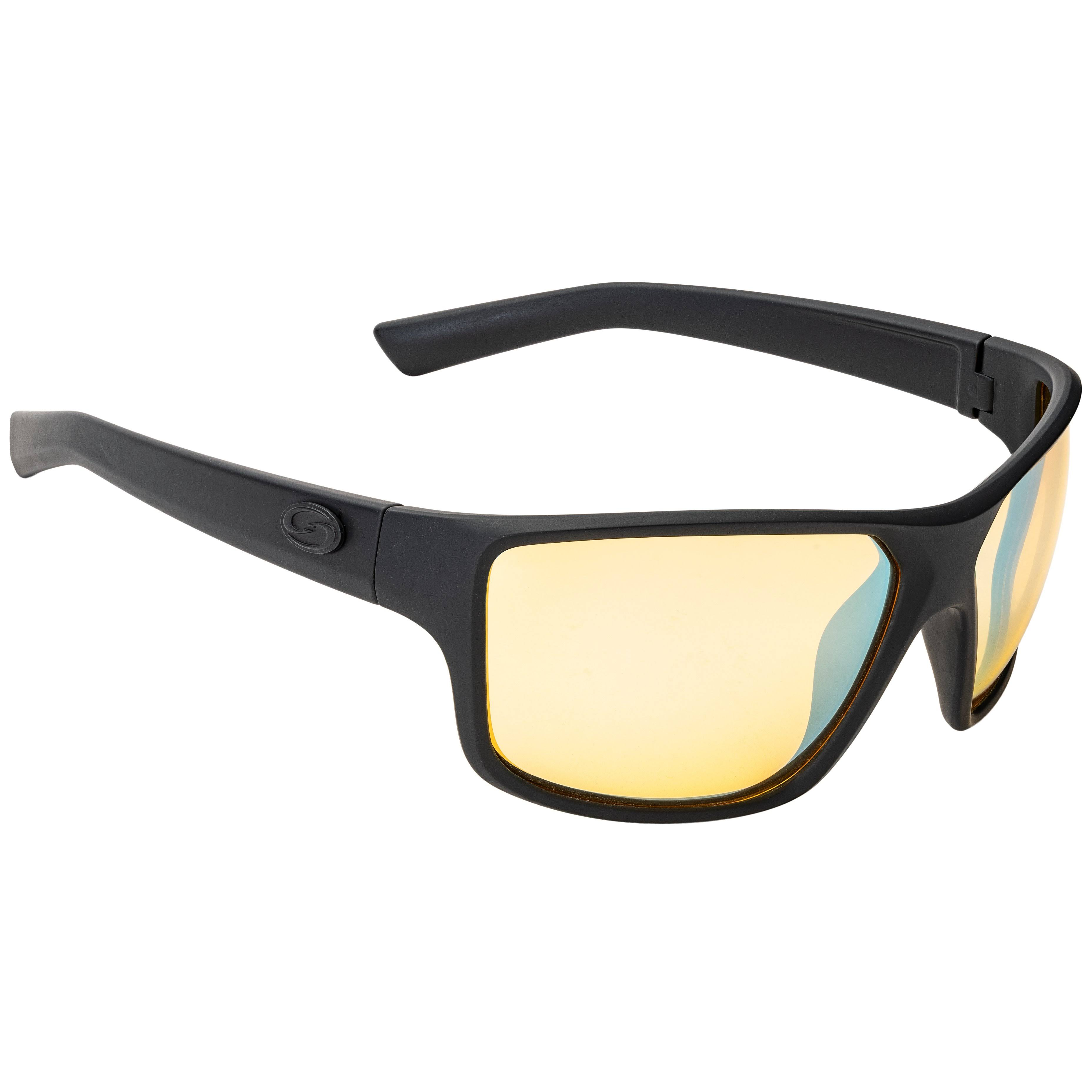 Strike King S11 Optics Clinch Sunglasses SG-S1140: Matte Black/Silver Mirror
