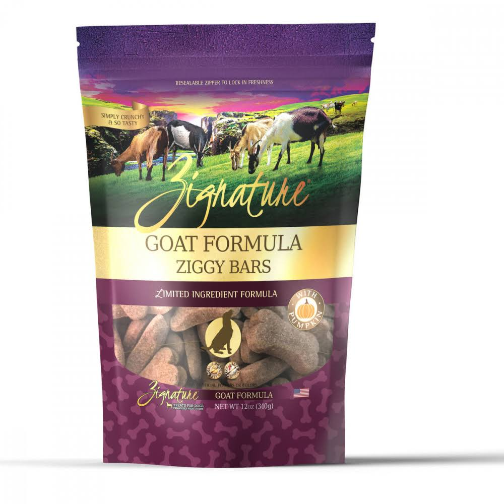 Zignature Zssential Ziggy Bars Goat Formula Dog Treats - 12 oz