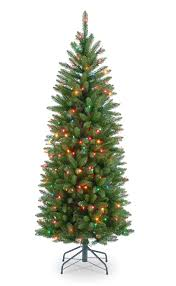 7ft Black Pencil Christmas Tree by Amazon Com National Tree 7 5 Foot Kingswood Fir Pencil Tree With