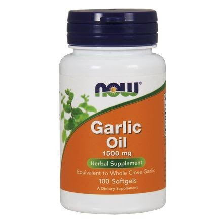 Now Foods 1500mg Garlic Oil - 100 Softgels