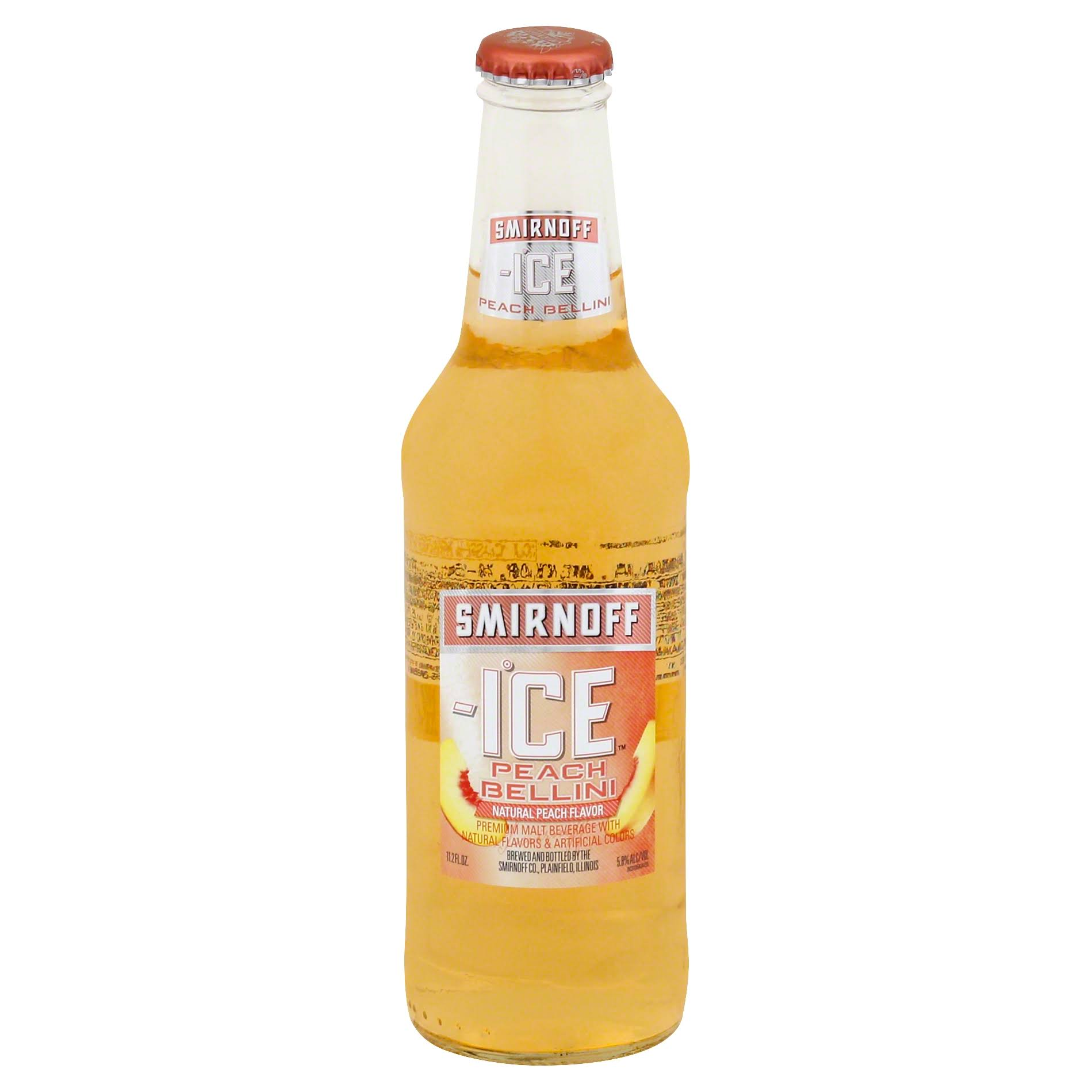 Smirnoff Ice Malt Beverage, Premium, Peach Bellini - 11.2 fl oz