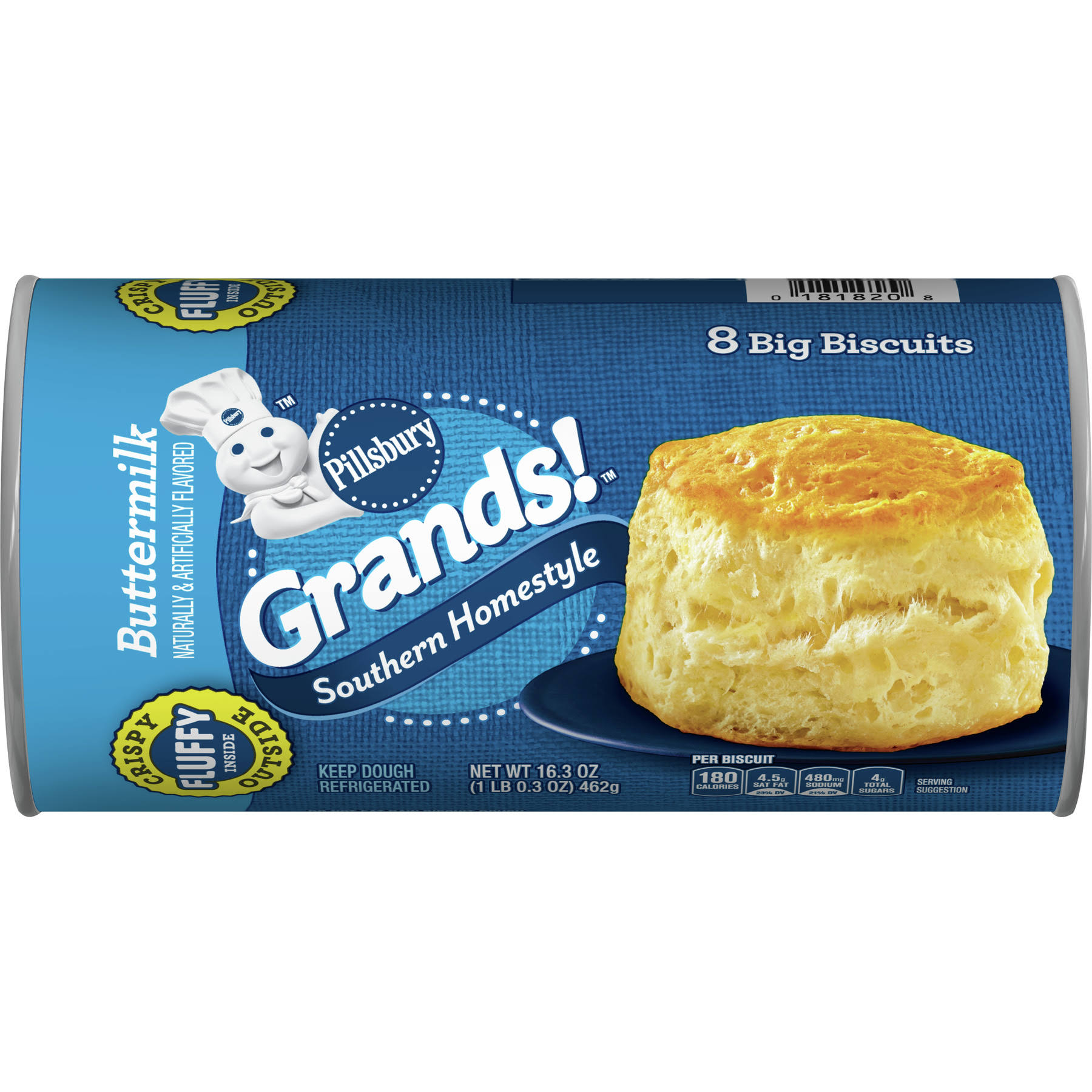 Pillsbury Grands Southern Homestyle Big Biscuits - Buttermilk, 462g, 8 Big Biscuits