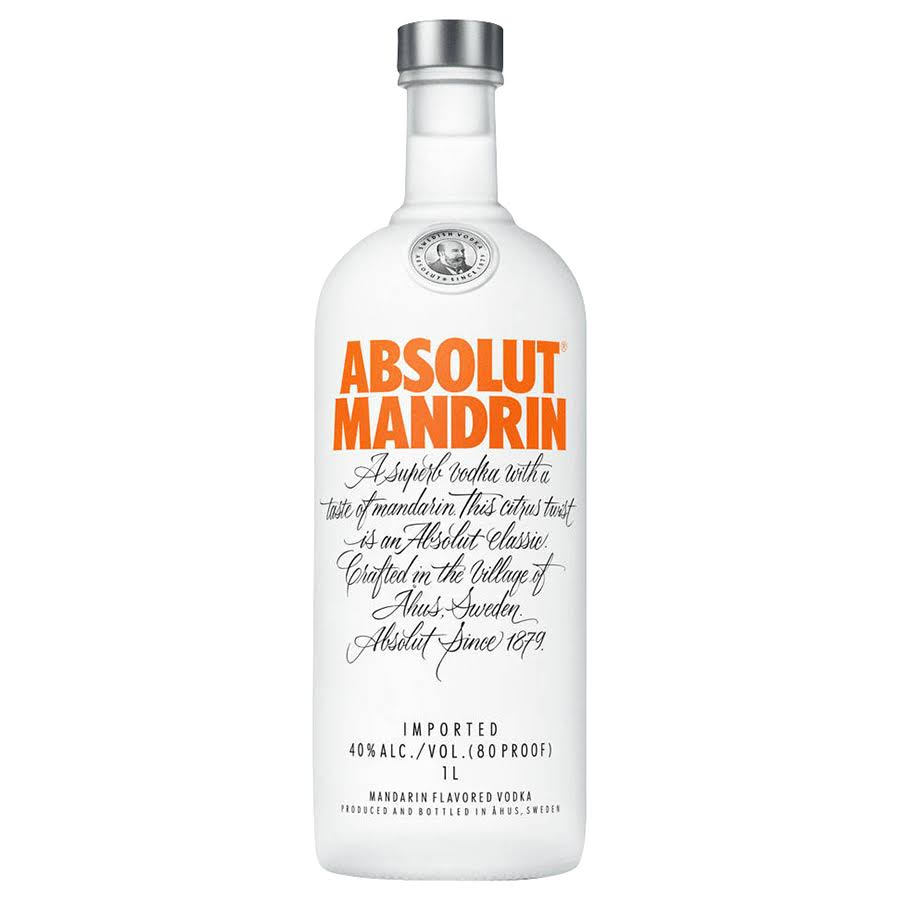 Absolut Mandarin Vodka - 1 L bottle