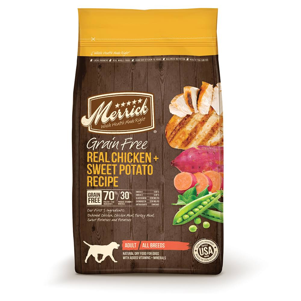 Merrick Grain Real Chicken Sweet Potato Recipe Dry Dog Food - 25lb