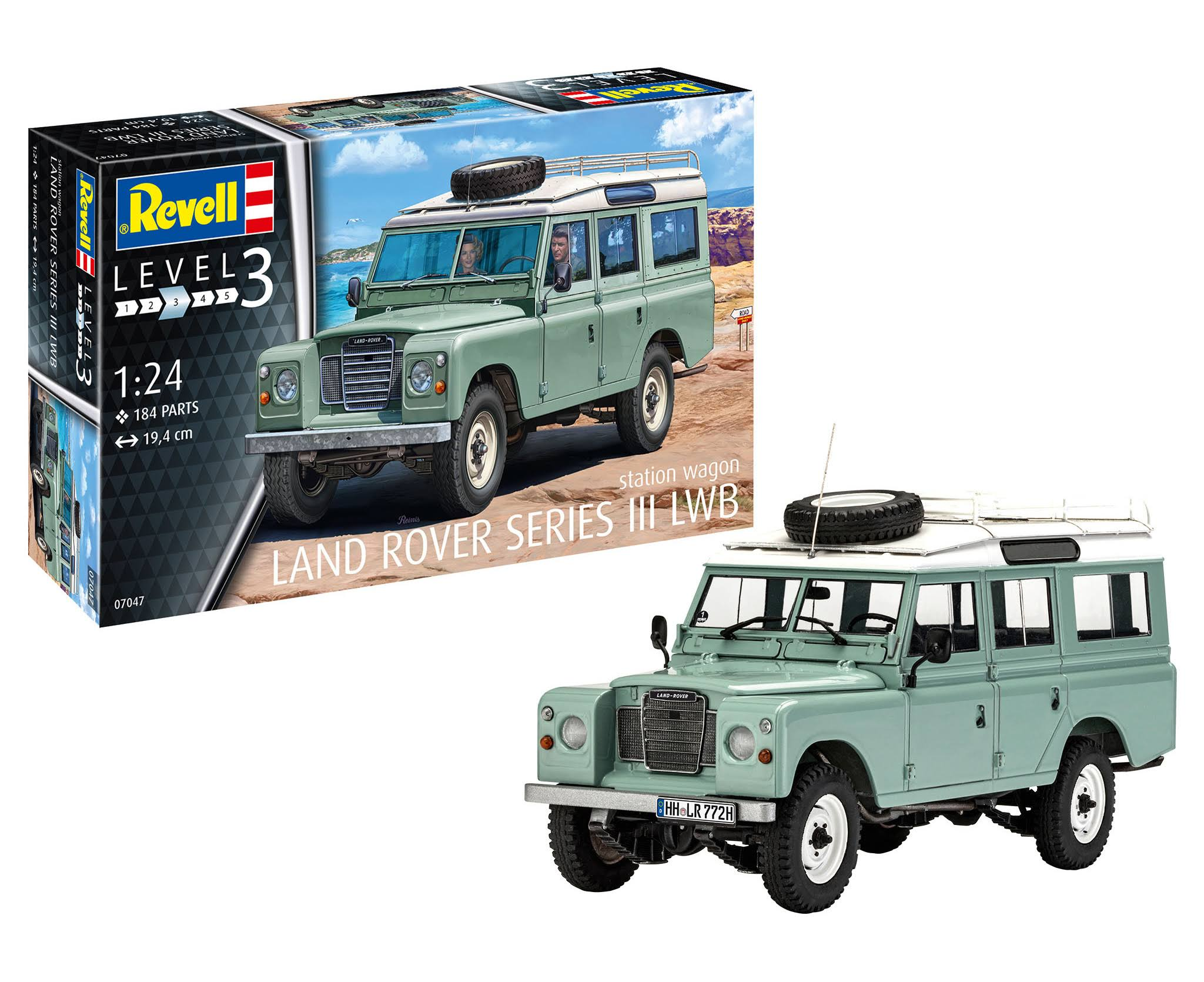 Revell - 1/24 Land Rover Series III - Plastic Model Car Kit (07047)