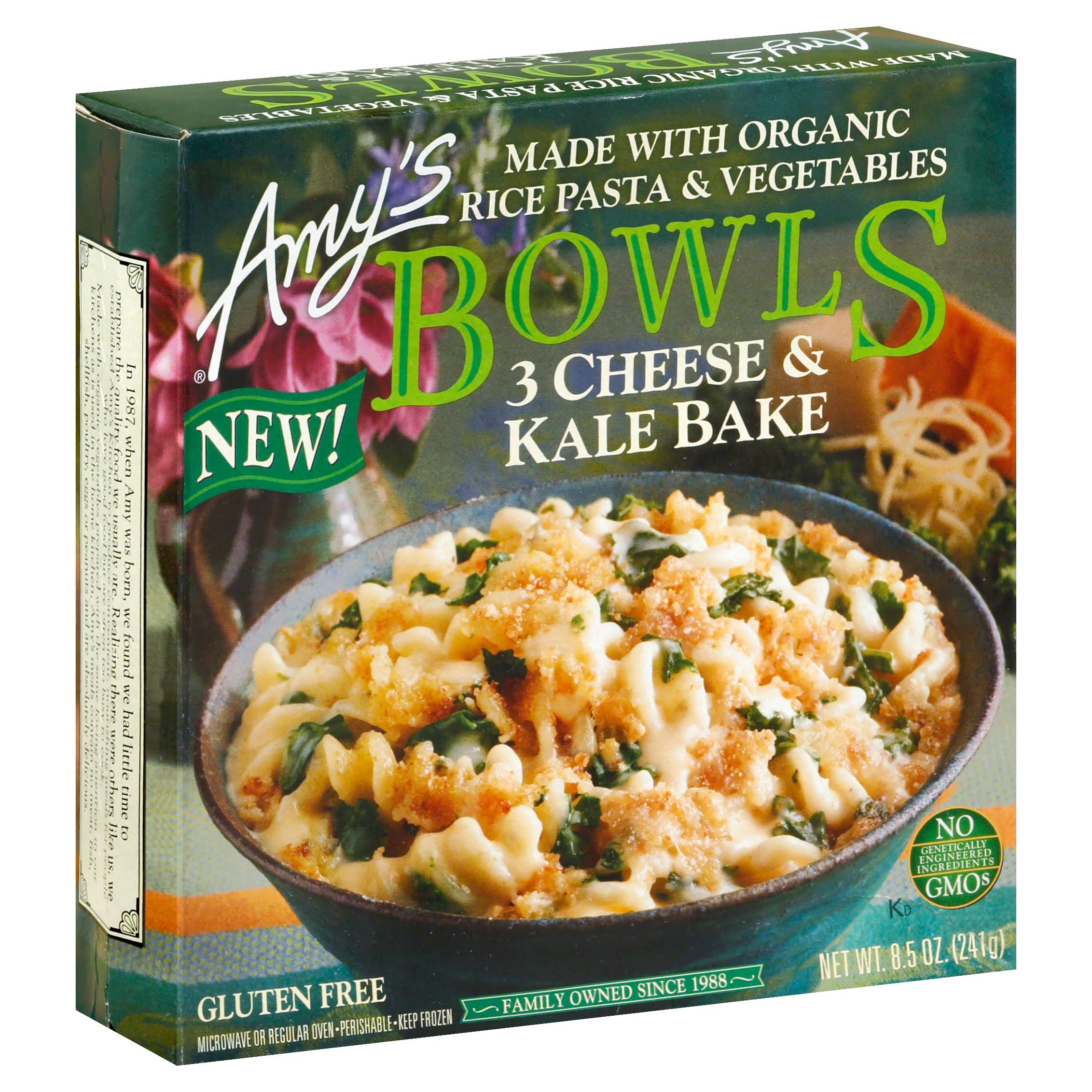 Amy's Bowls 3 Cheese and Kale Bake Bowl - 8.5oz