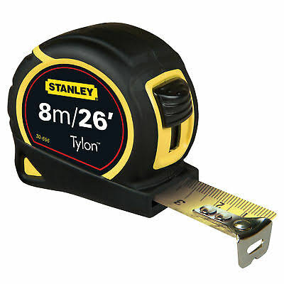Stanley Tylon Tape Measure Length: 8m x 25mm