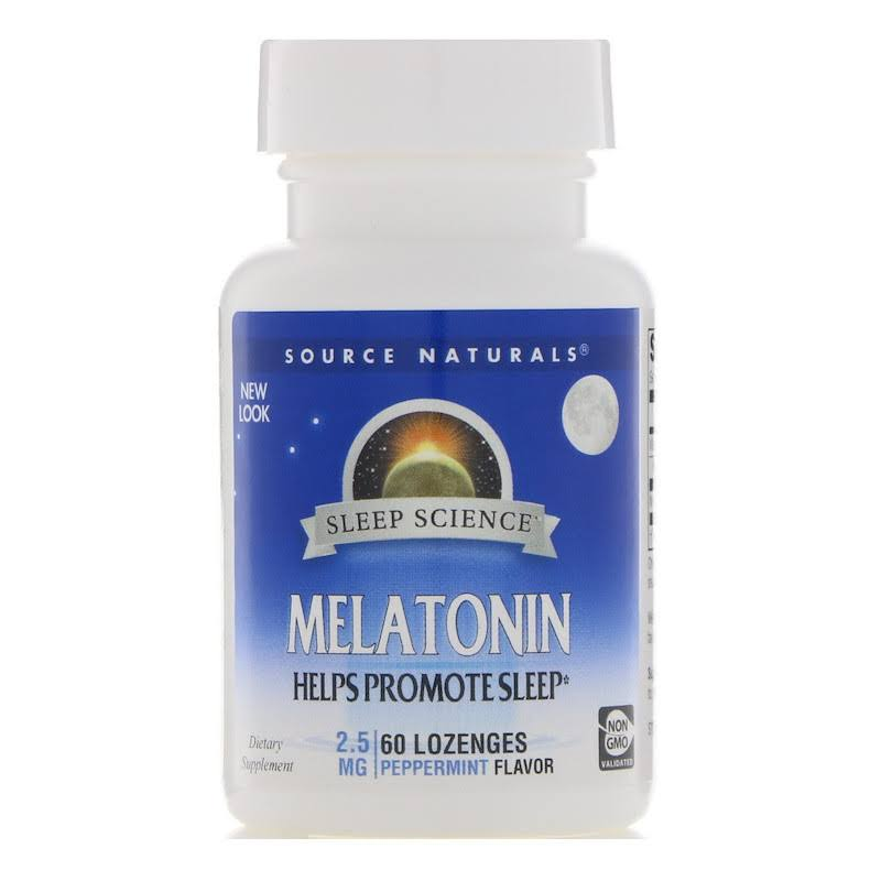 Source Naturals Melatonin Sublingual Tablets - Peppermint, 60 Pack