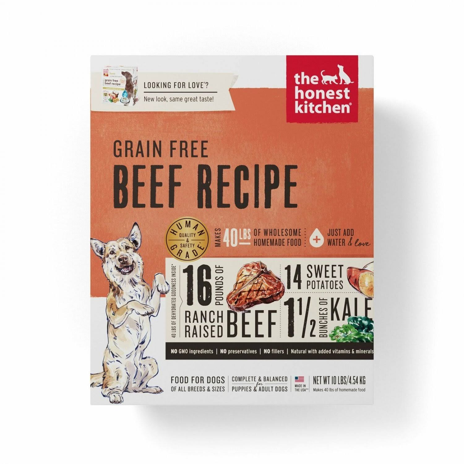 The Honest Kitchen Grain Free Dog Food - Beef