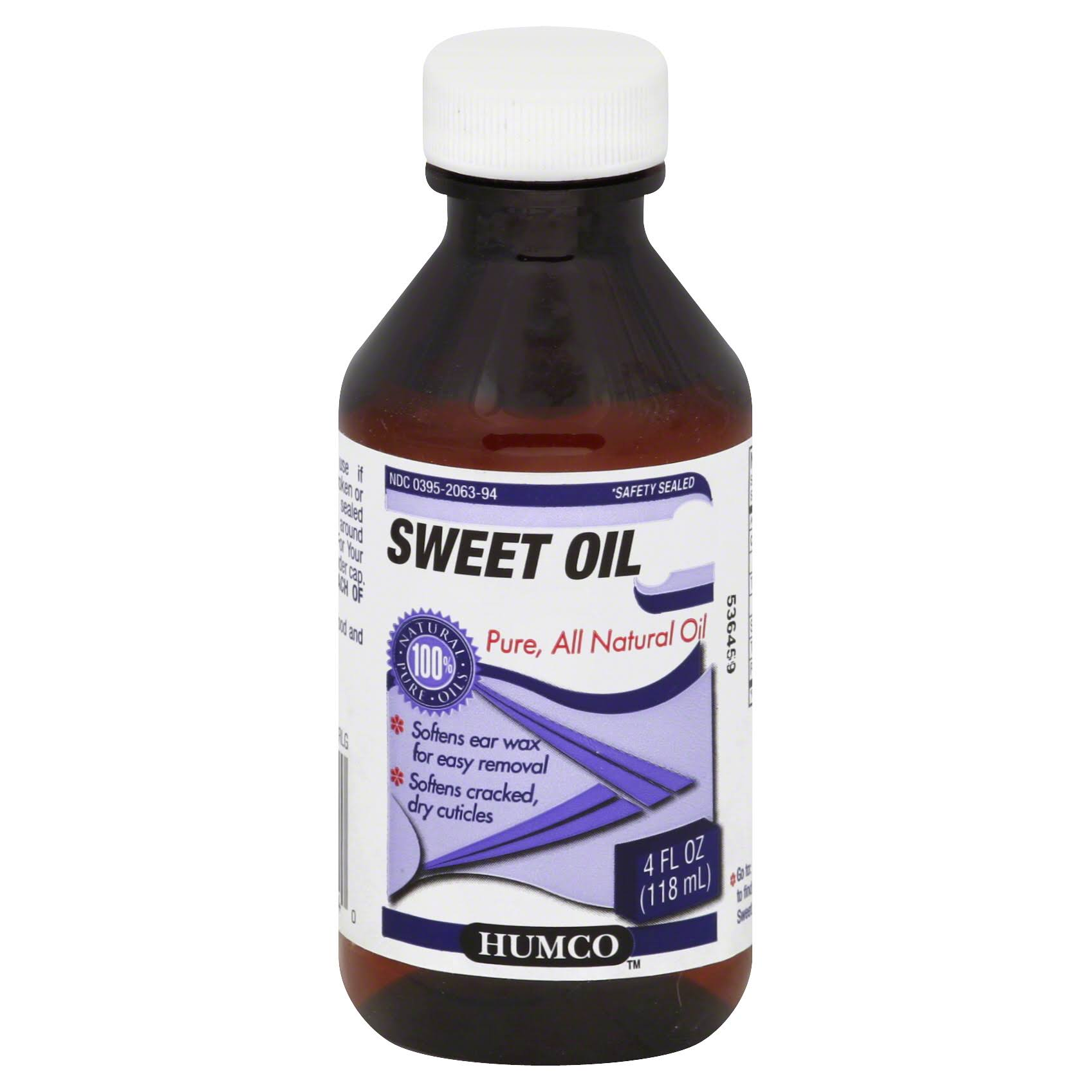 Humco Natural Pure Sweet Oil - 4oz