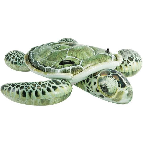 Intex Realistic Sea Turtle Swimming Pool Ride On Inflatable Float - 7""