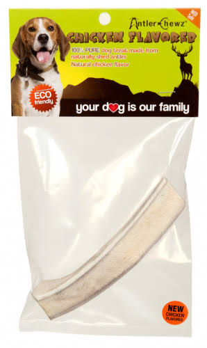 Antler Chewz Split Chicken Flavor Dog Treat - Medium