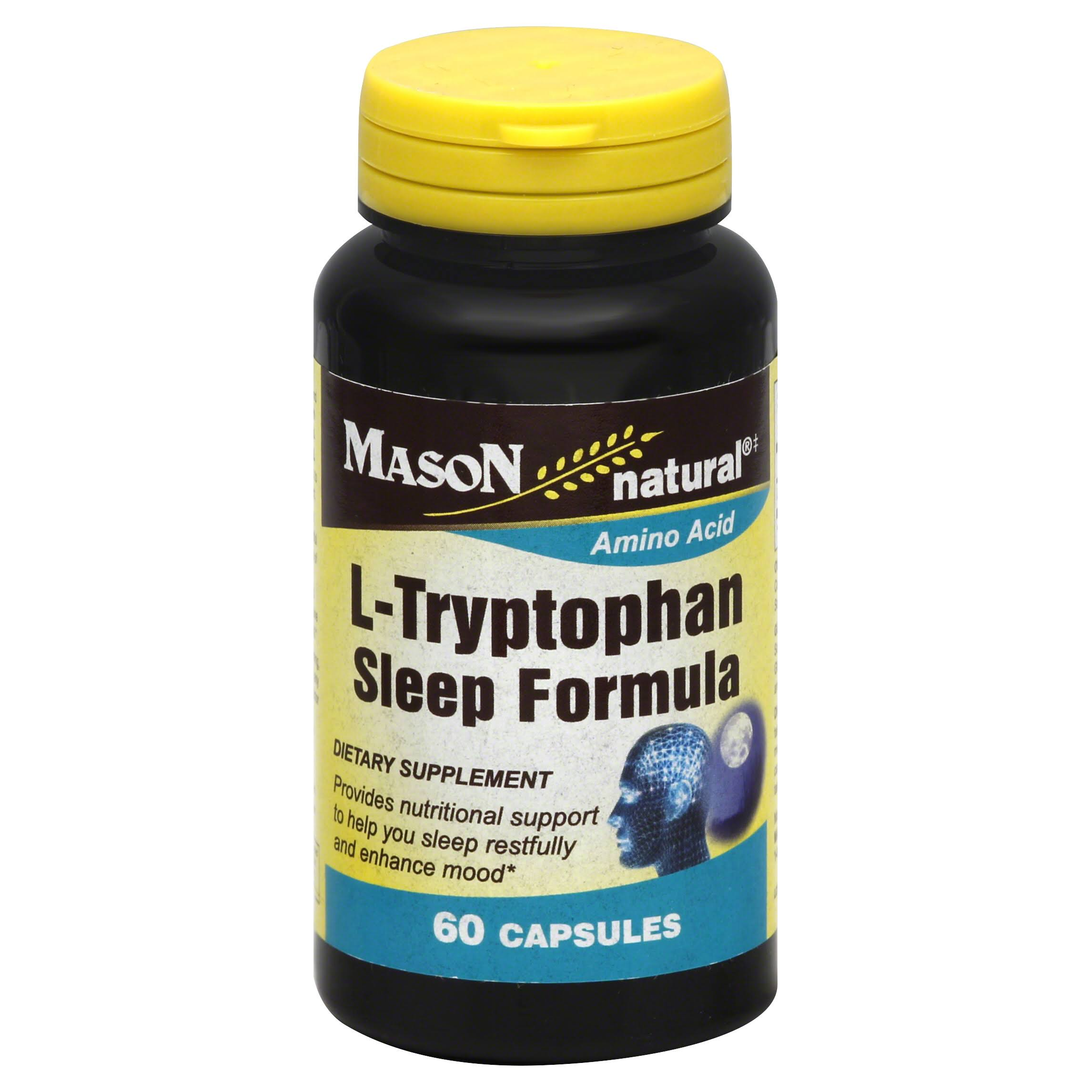 Mason Natural L Tryptophan Sleep Formula Capsules - 60ct