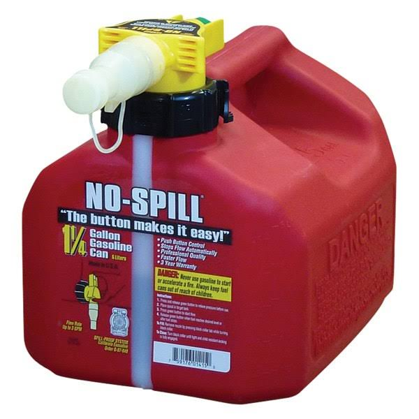 No-Spill Poly Gas Can - 1.25 gal