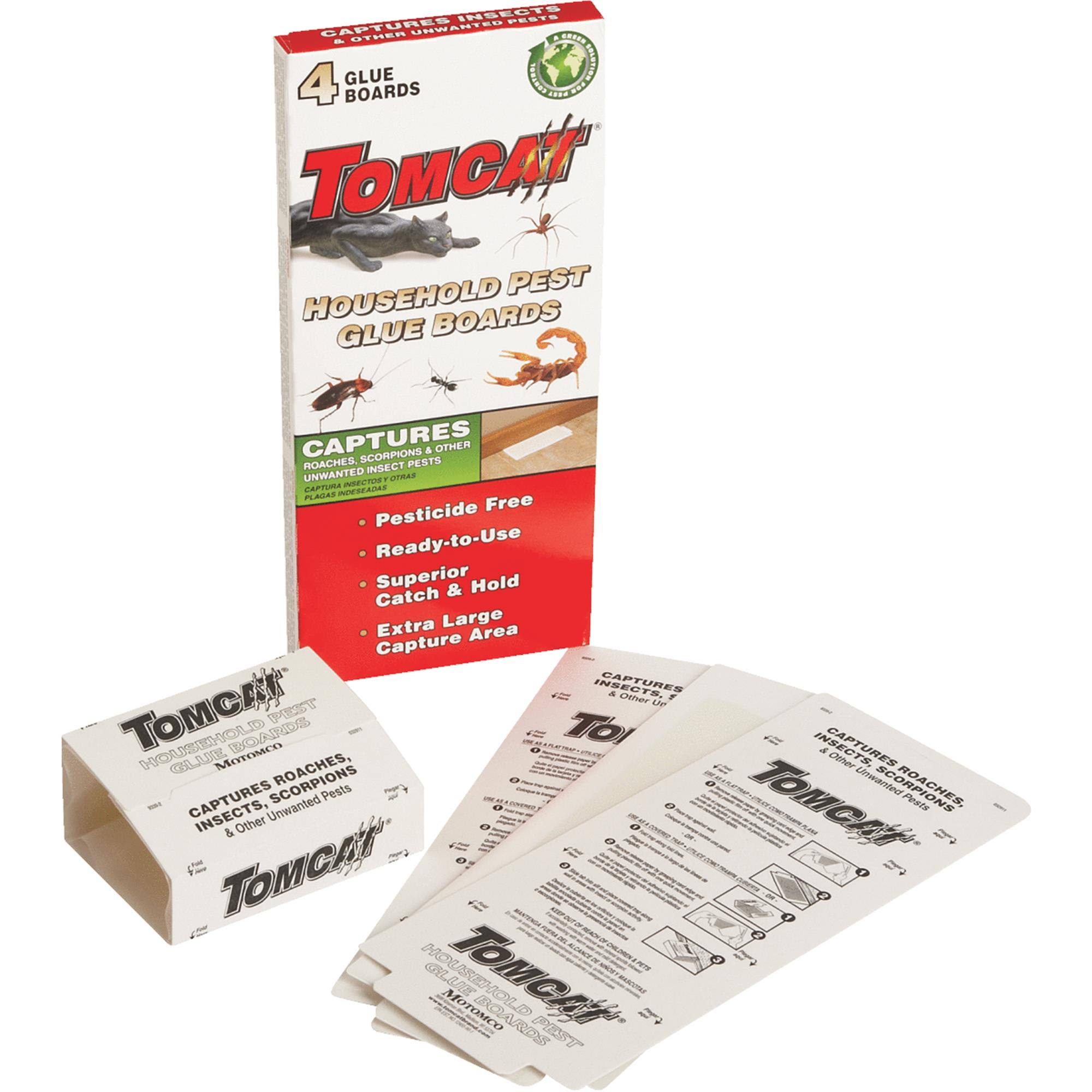 Tomcat 4524218 Household Pest Glue Boards, 4-Pack