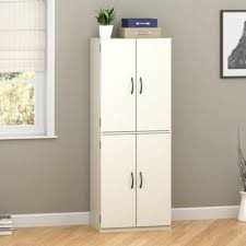 Free Standing Kitchen Cabinets Amazon by Amazon Com Mainstays Tall Storage Cabinet 4 Door White Home