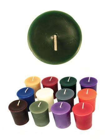 "Honey Candles Pure Beeswax 2"" Votives-Forest Green-Set of 18, 18 Piece"