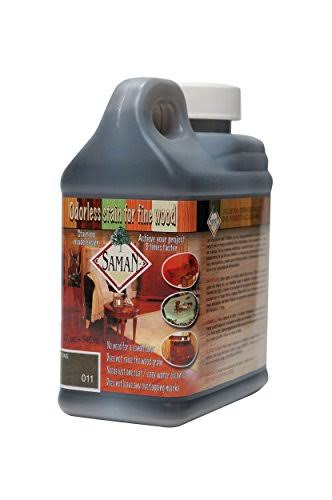Saman TEW-011-32 Interior Water Based Stain for Fine Wood, Castle Stone