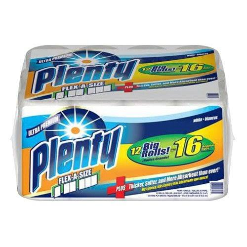 Plenty Ultra Premium Flex-A-Size Paper Towels - 2ply, 12ct