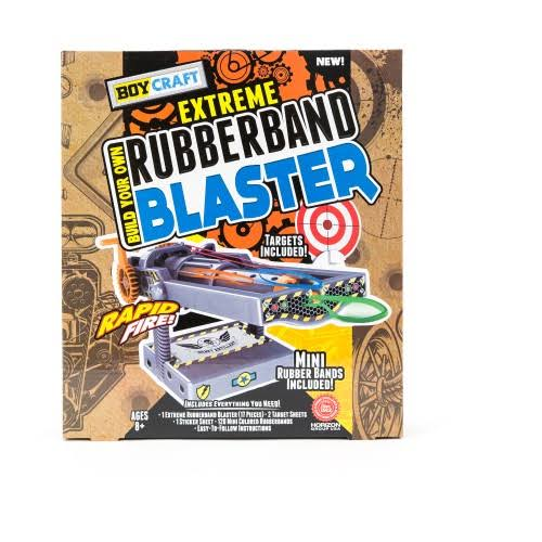 Boy Craft Build Your Own Extreme Rubber Band Blaster Set - 17pcs