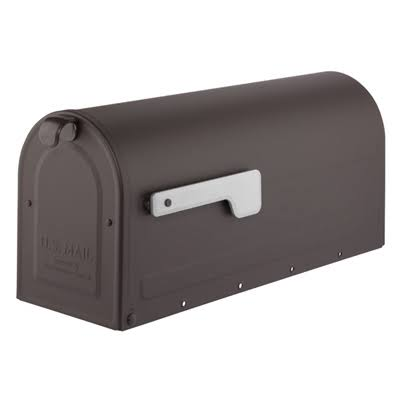 Architectural Mailboxes 256307 Post Mount Mailbox Rubbed Bronze