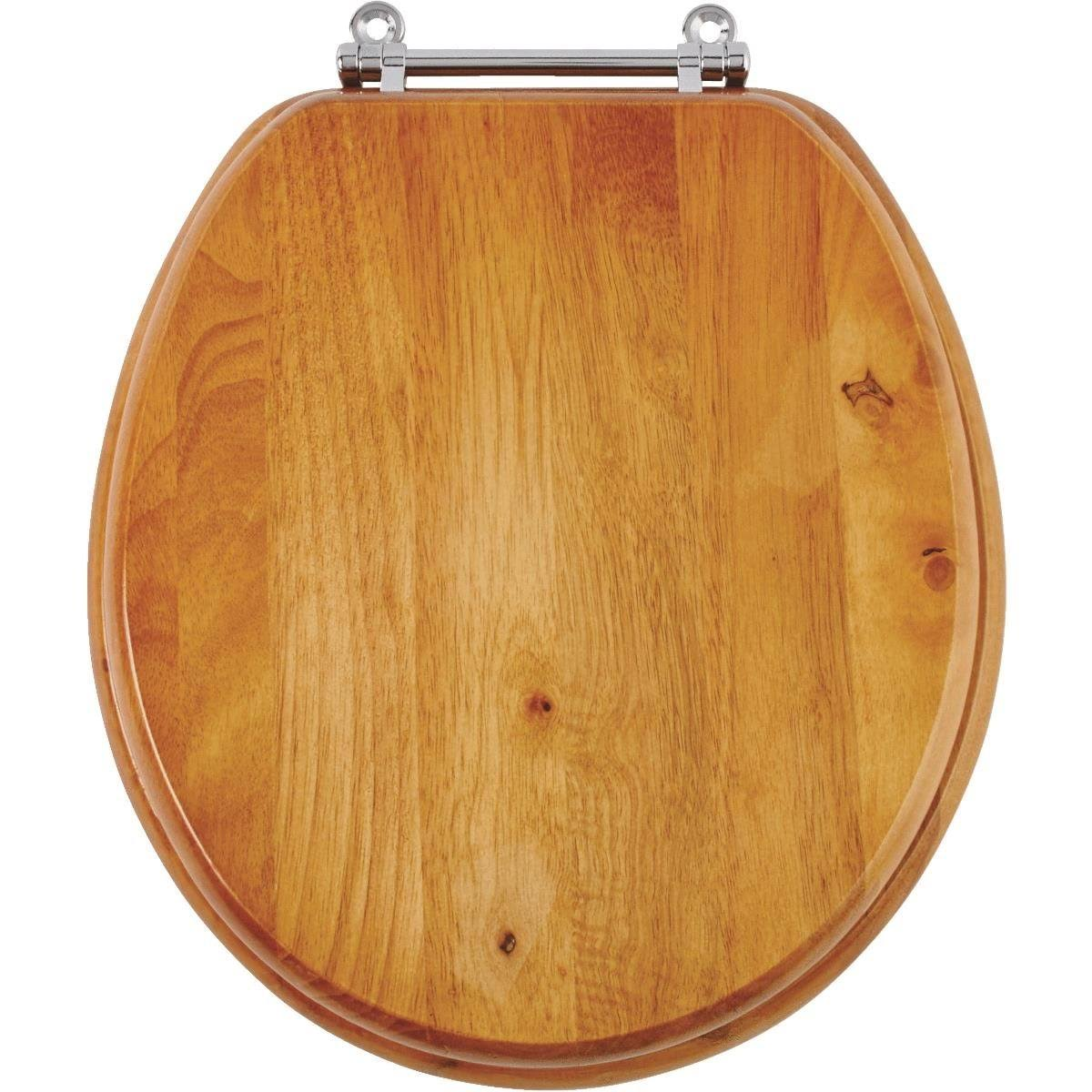 Do It Best Oak Round Toilet Seat