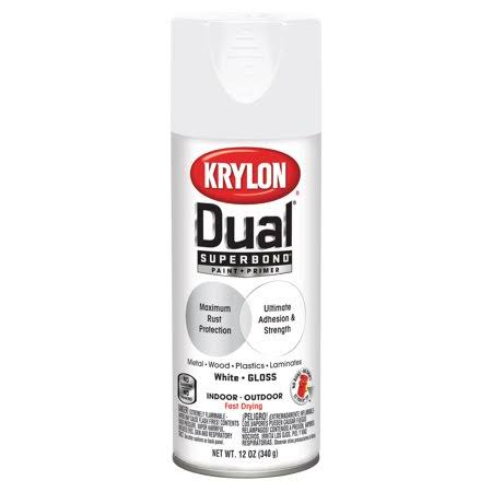 Krylon 8800 Dual Paint and Primer Gloss Spray - White, 12oz