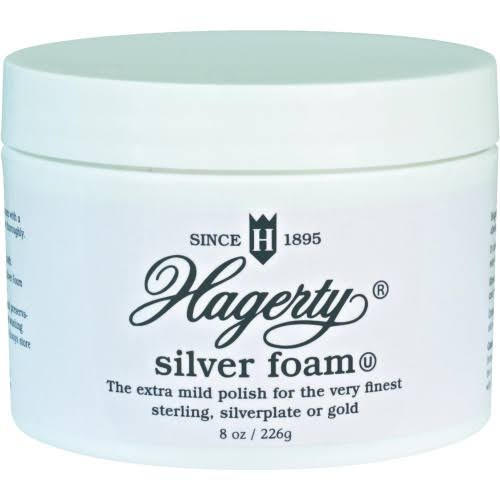 Hagerty Silver Foam Polish Tarnish Jar - Unscented, 226g