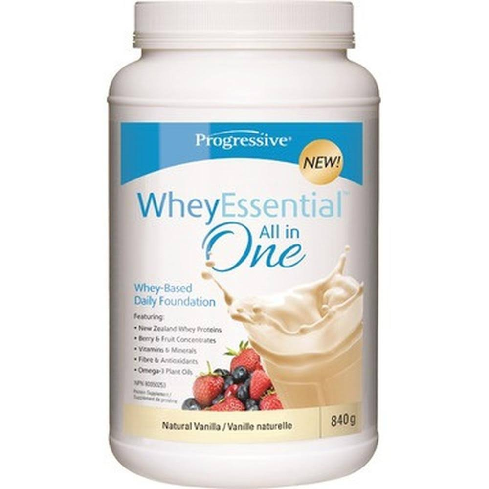 Progressive Whey Essential All In One Whey-Based Daily Foundation - Natural Vanilla, 840g