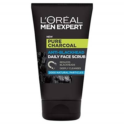 L'Oreal Men Expert Pure Charcoal Anti-Blackhead Daily Face Scrub 100ml