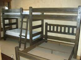Wood Bunk Beds Plans by Custom Bunk Beds Cedar Panel Barnwood Triple Twin Bunk Bed With A