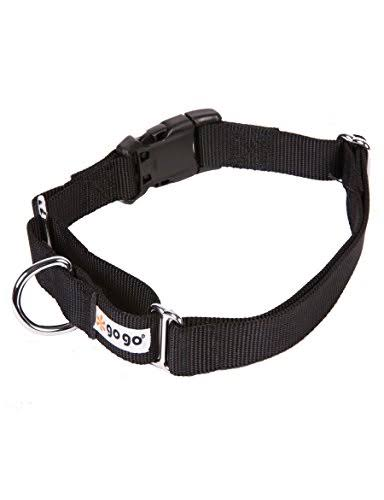Gogo Pet Products Martingale Girth Gentle Training Collar Medium Large Black