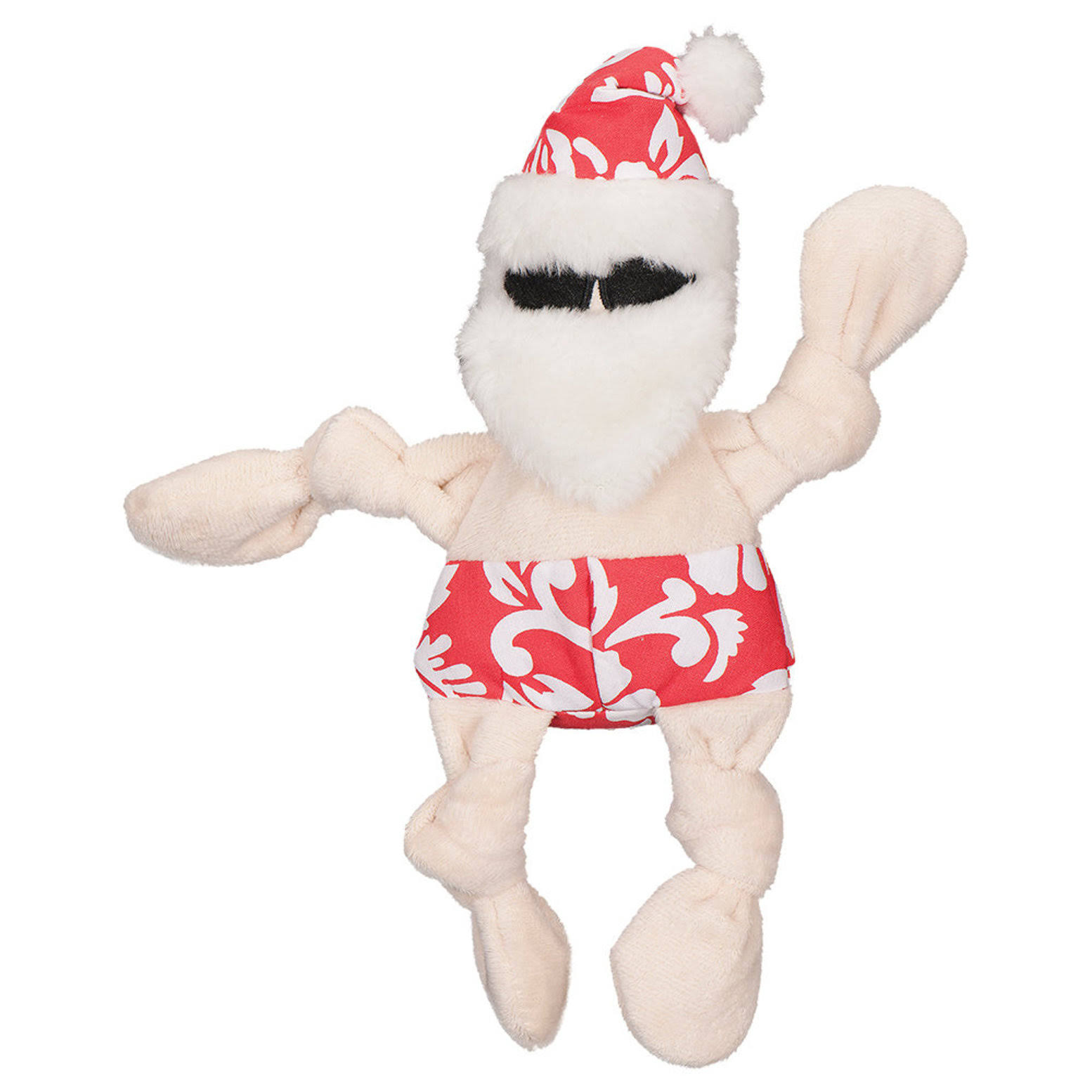 Hugglehounds Holiday Knottie Dog Toy - Beach Bum Santa - Small
