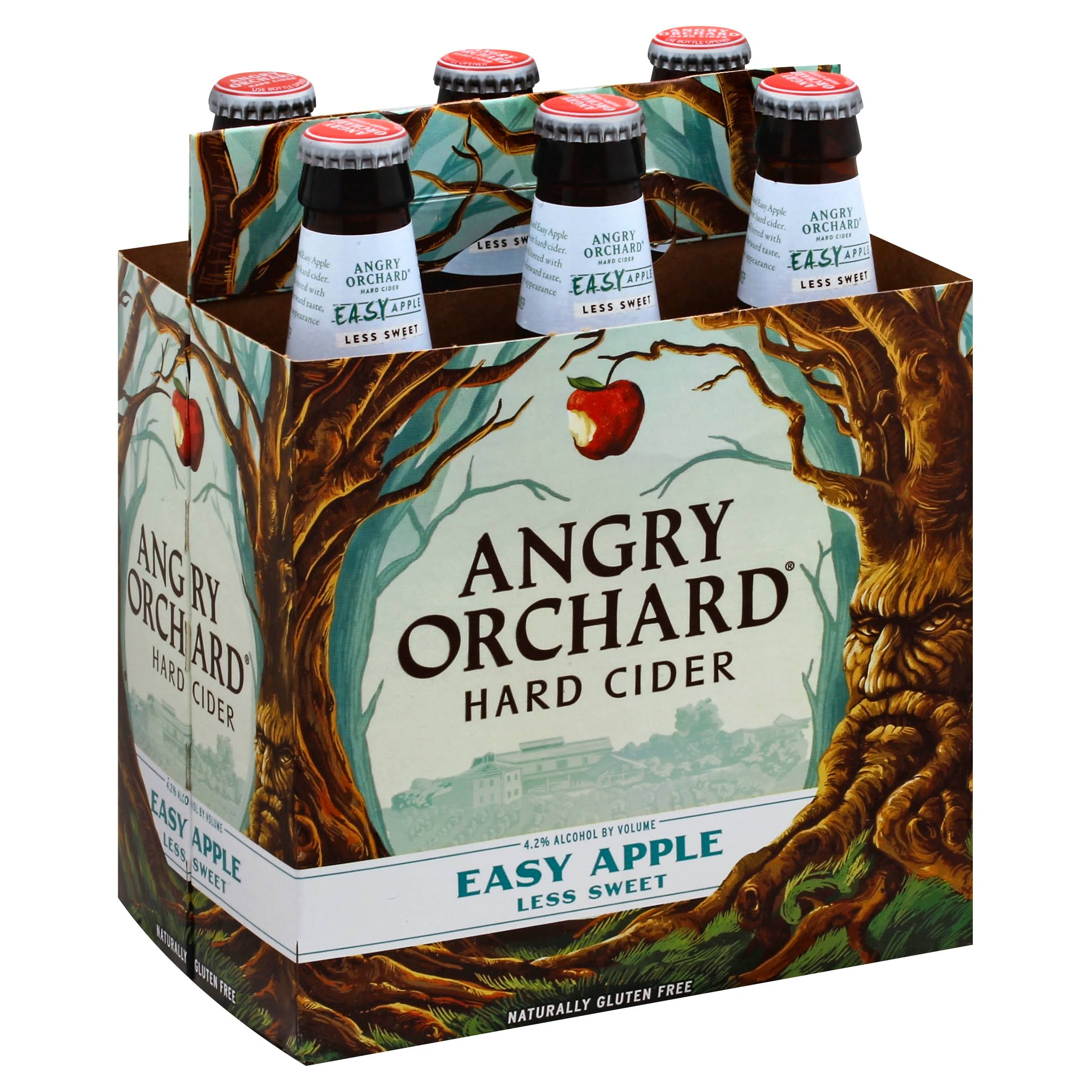 Angry Orchard Easy Apple Hard Cider - 6 Bottles