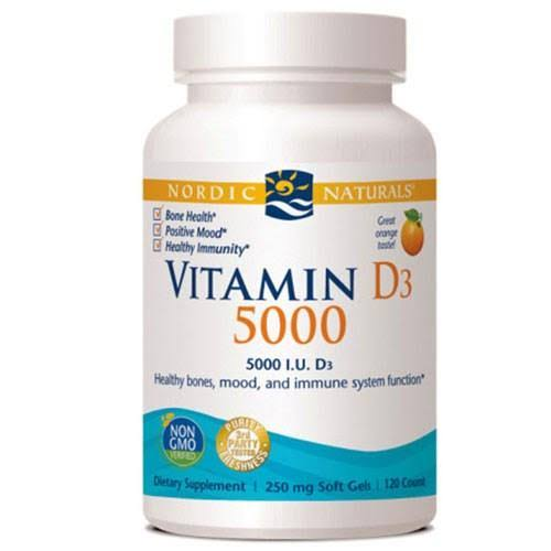 Nordic Naturals Vitamin D3 - Orange, 120 Softgels