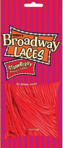 Gerrit's Broadway Strawberry Laces - 4oz, Pack of 12