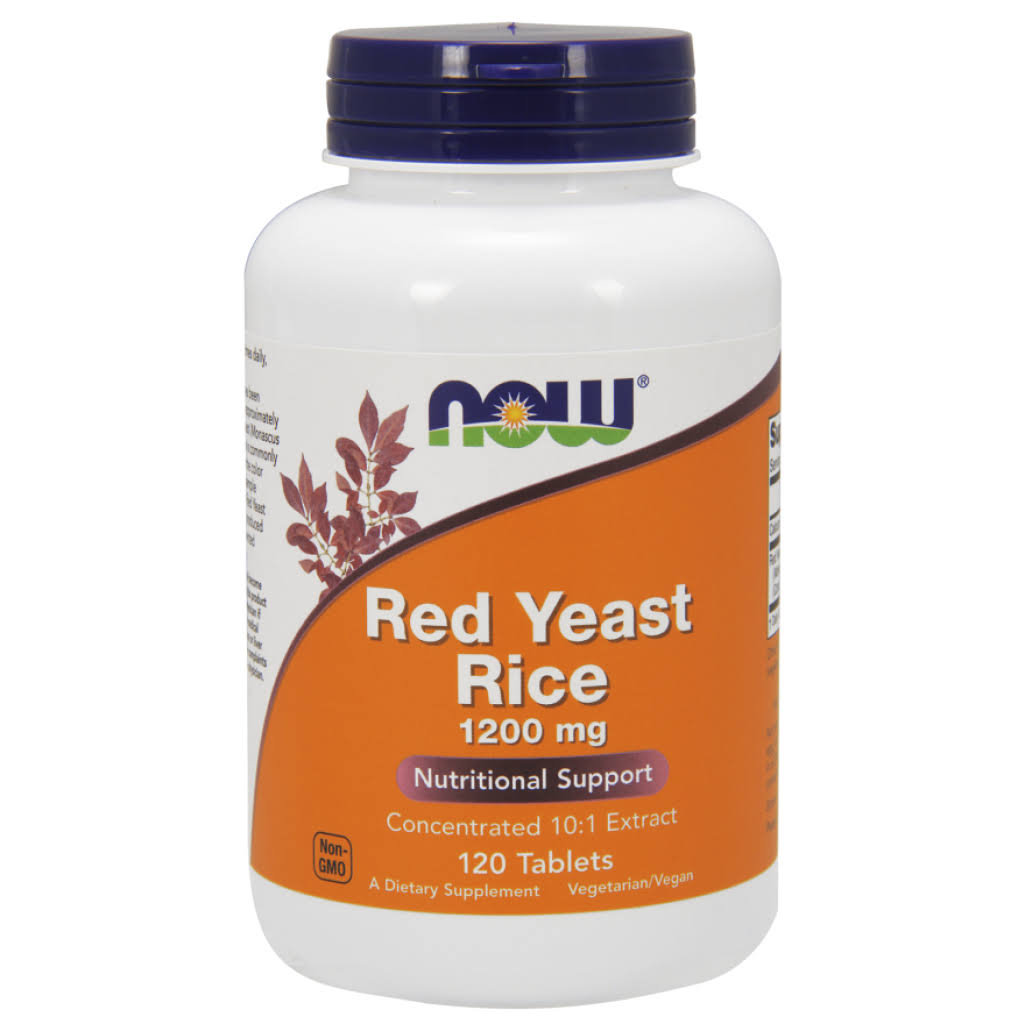 Now Foods Red Yeast Rice Extract Dietary Supplement - 1200mg, 120ct
