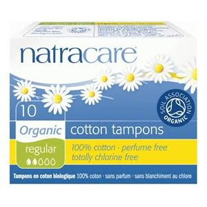 Natracare Tampons, Cotton, Organic, Regular - 10 Tampons