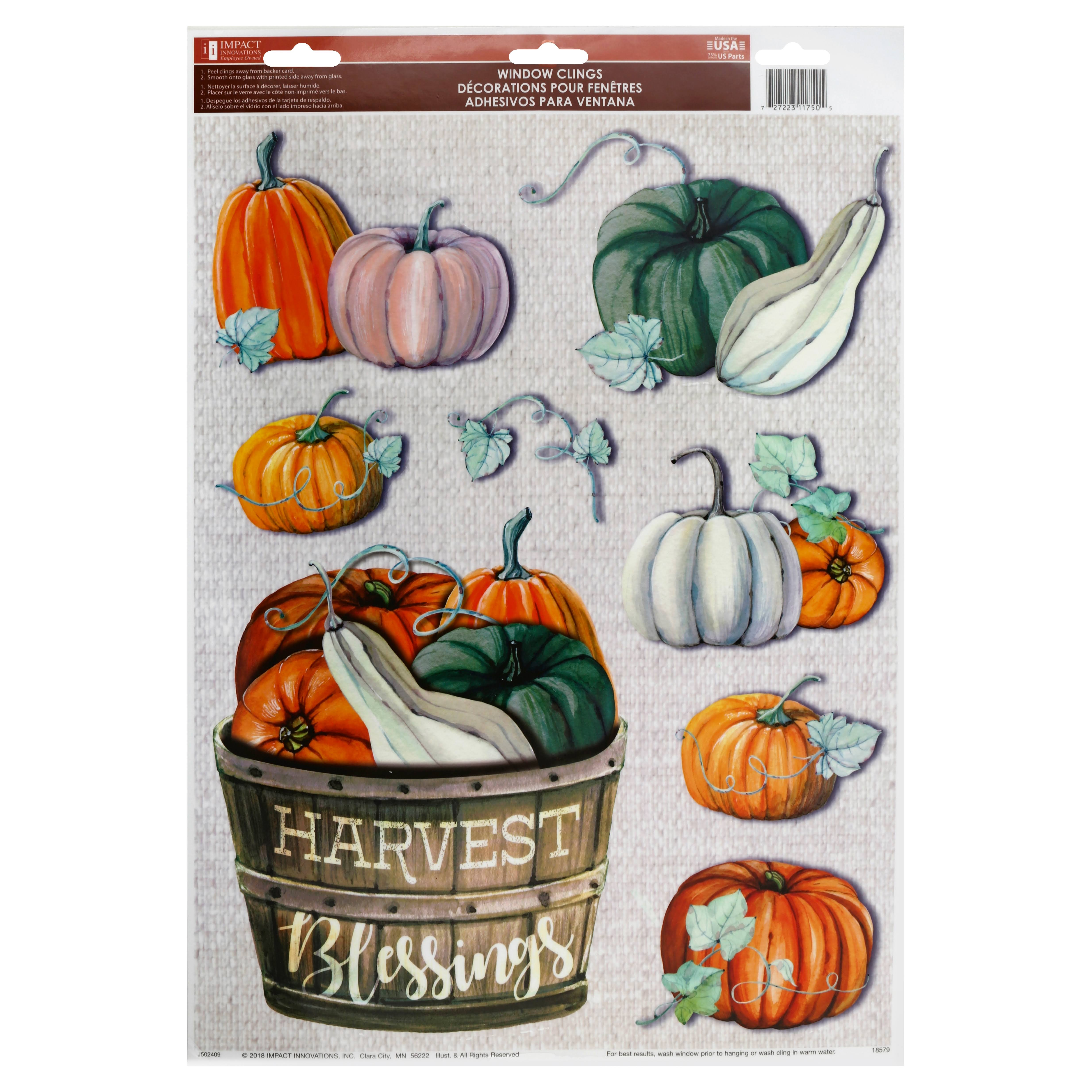 "Impact Innovations Harvest Cling, Assorted, 12"" x 17"""
