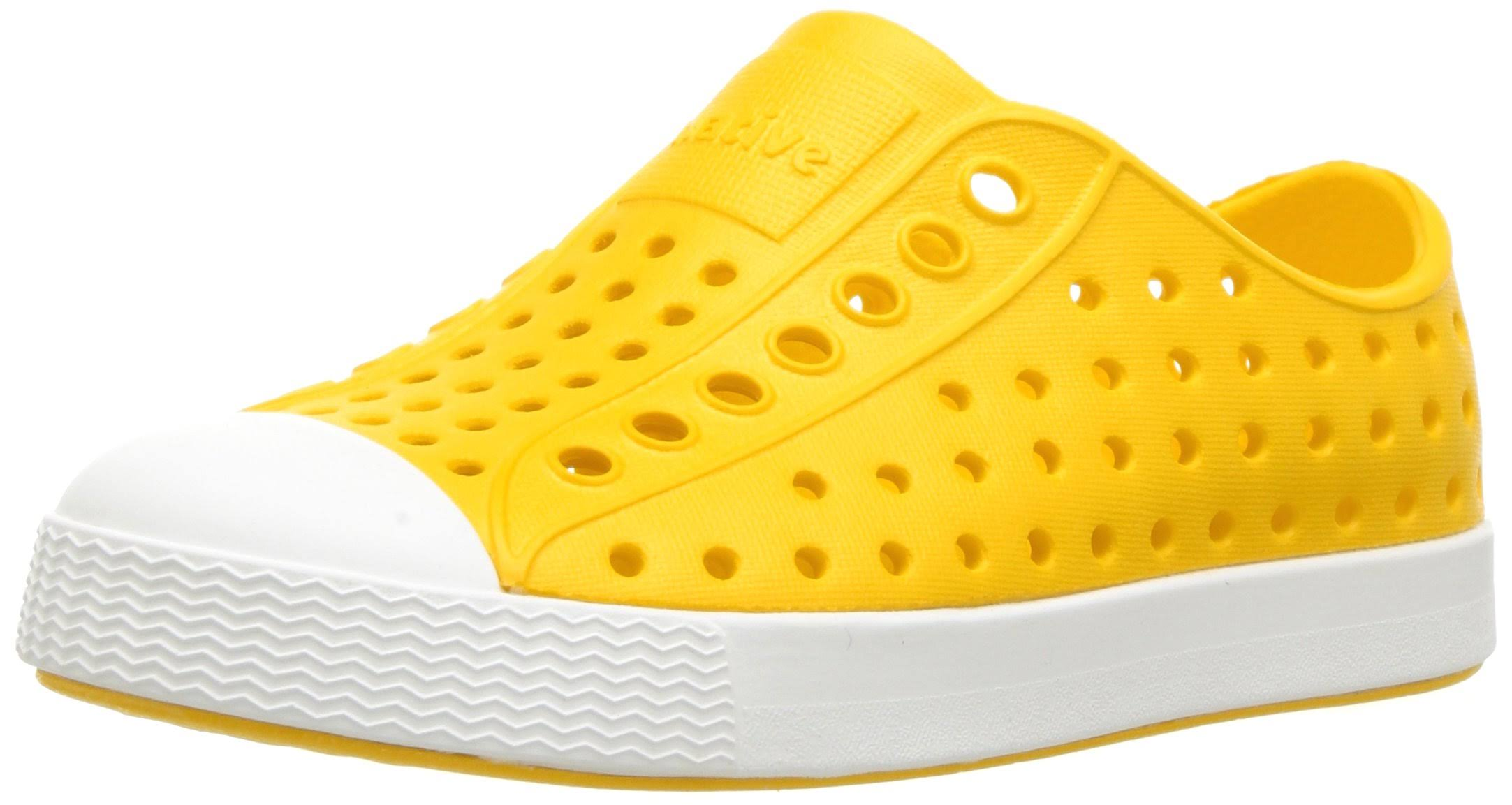 Native Little Kids' Crayon Yellow/Shell White Jefferson Shoes - 9