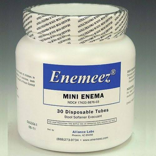 Alliance Labs Enemeez Mini Enema Stool Softener - 30 Disposable Tubes