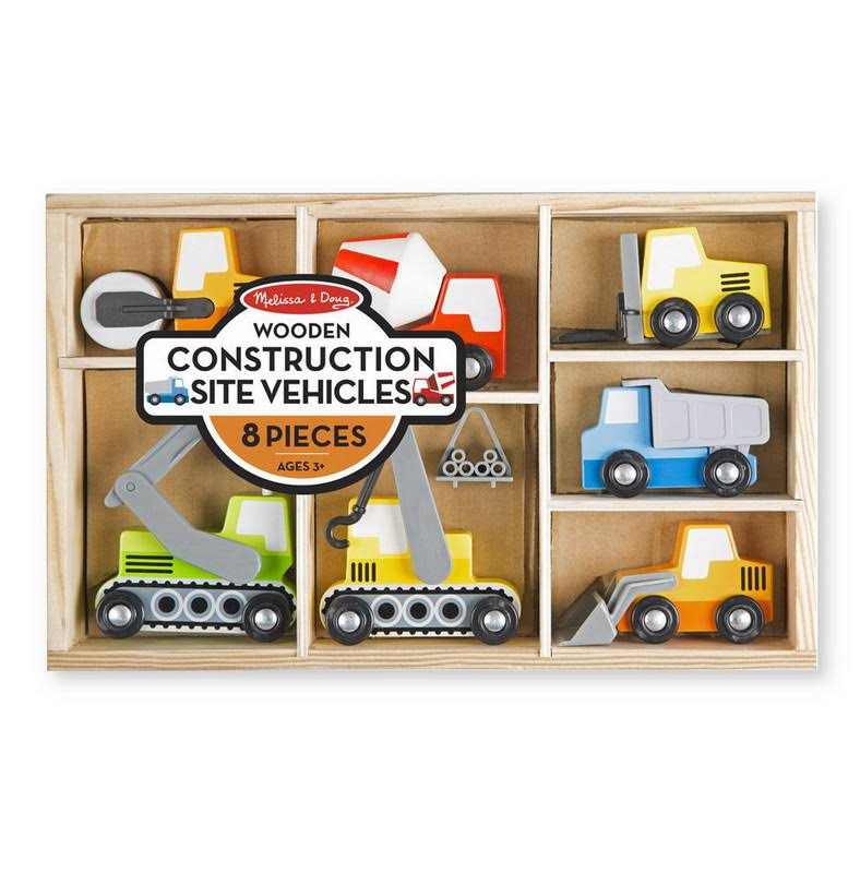 Melissa & Doug - Wooden Construction Site Vehicles