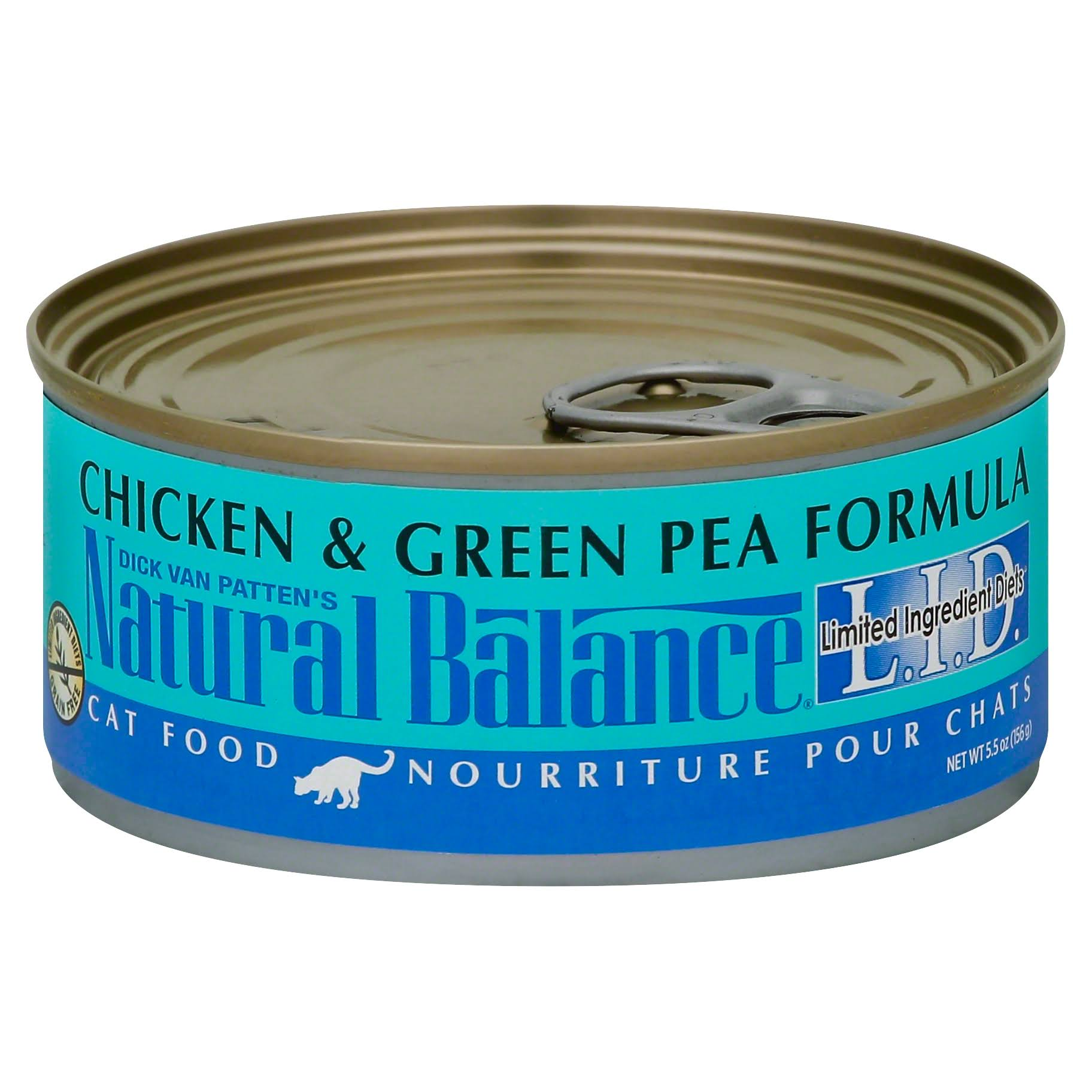 Natural Balance Lid Adult Cat Wet Food - Chicken & Green Pea, 5.5oz