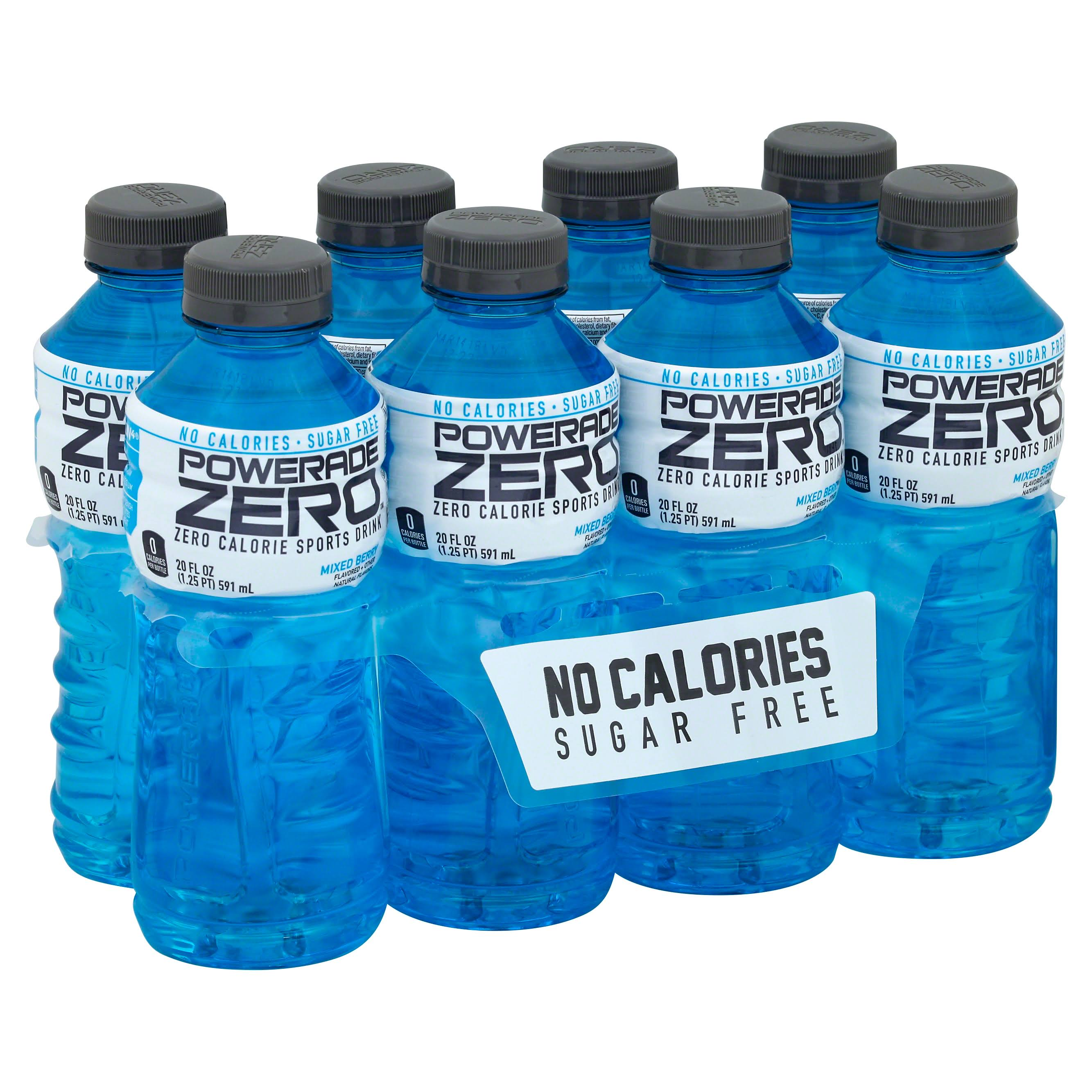 Powerade Sports Drink, Zero Calorie, Mixed Berry - 8 pack, 20 fl oz
