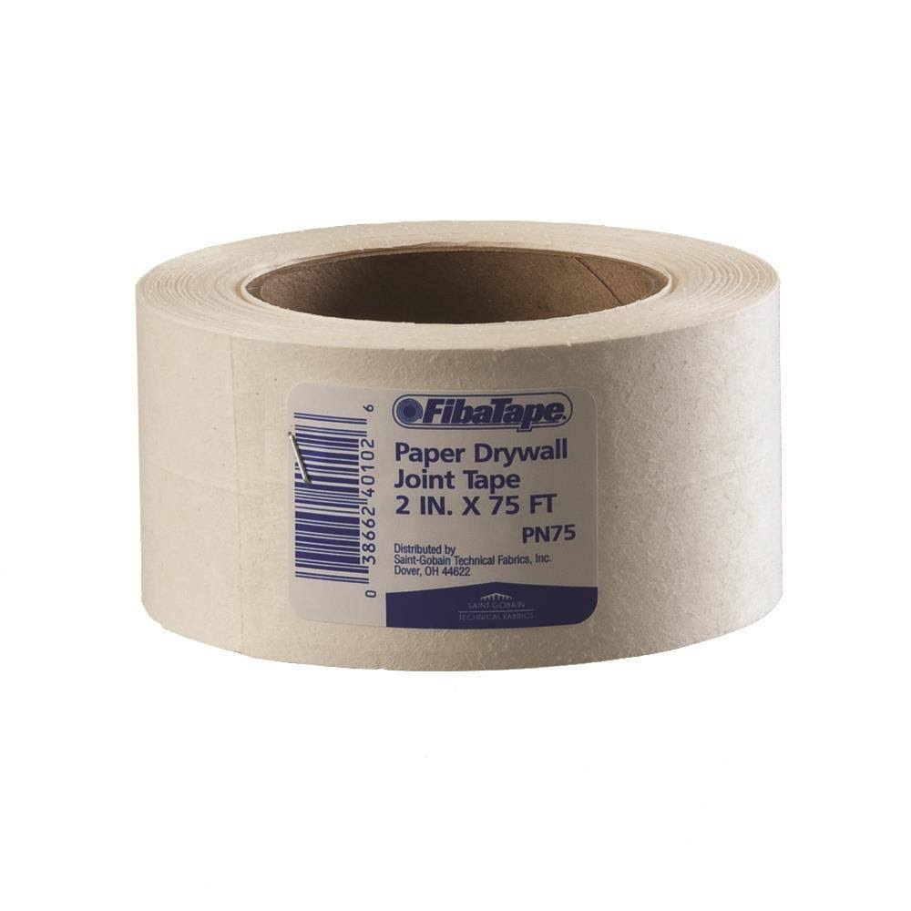 "Saint-Gobain FibaTape Paper Drywall Joint Tape - 2"" x 75ft, White"