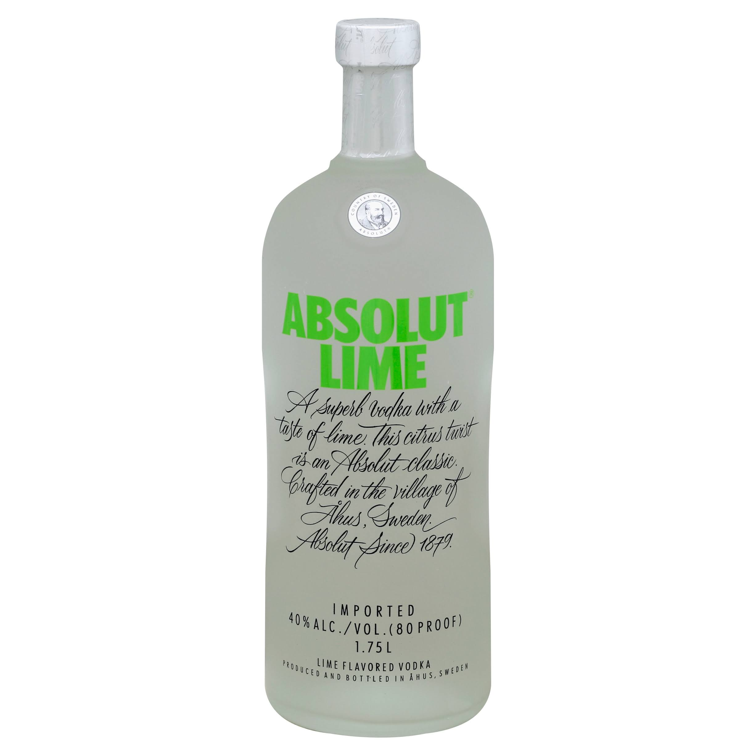 Absolut Vodka, Lime Flavored - 1.75 l