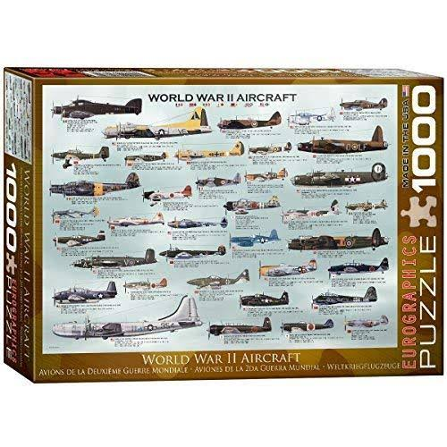 Eurographics World War II Aircraft Jigsaw Puzzle - 1000pc