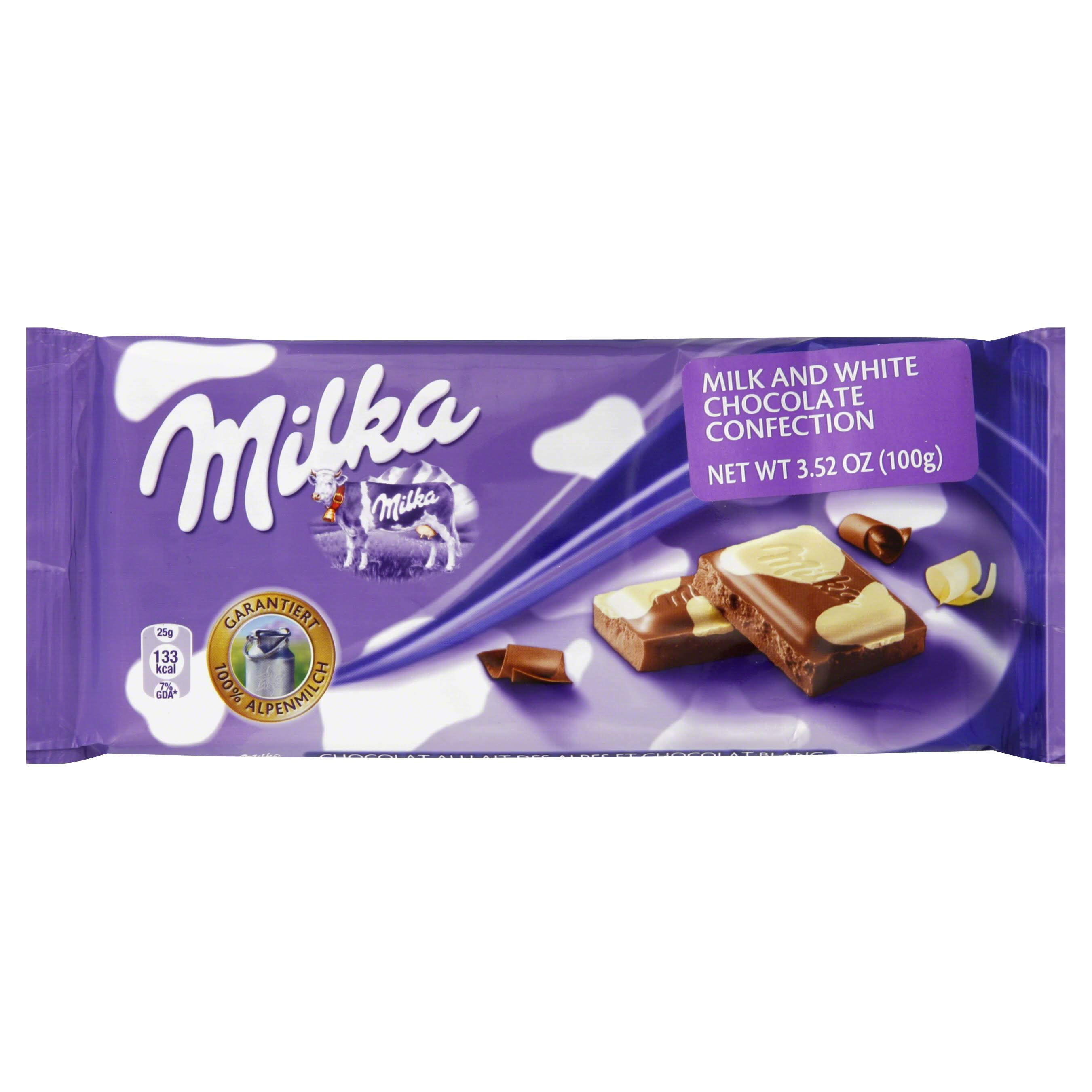 Milka Milk and White Chocolate Confection - 3.52 oz