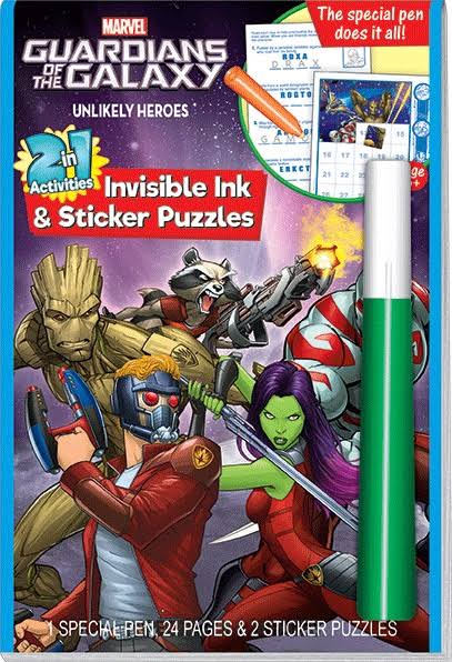 Guardians of The Galaxy Invisible Ink and Sticker Book